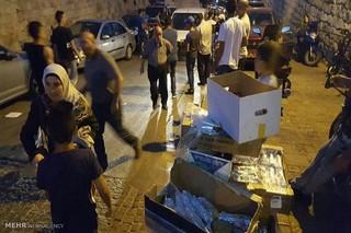 بسته های غذایی اهدایی جوانان ایرانی