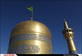 مراسم تعویض پرچم ، نقارخانه ،تعویض پوش ضریح مبارک امام رضا ع/گزارش تصویری 1