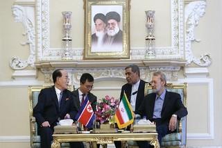 لاریجانی و رئیس مجمع کره شمالی