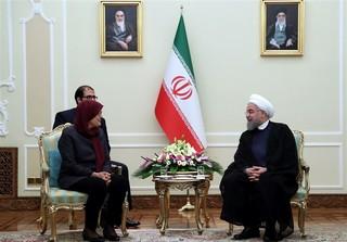 روحانی در دیدار رئیس مجلس صربستان