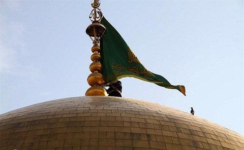 تعویض پرچم امام رضا