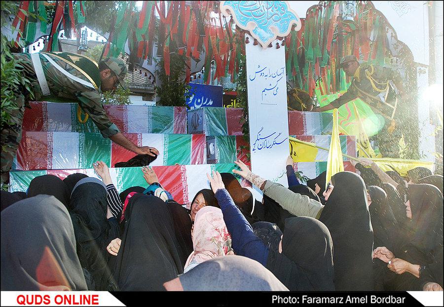 تشییع پیکر 19 شهید گمنام دفاع مقدس ویک شهید مدافع حرم / گزارش تصویری