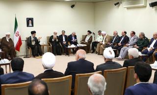 دیدار رهبر معظم انقلاب با فعالان فرهنگی یزد و همدان