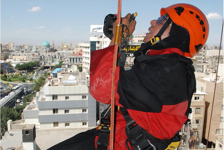 تنها زن برج نورد ایران / گزارش تصویری