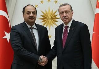 دیدار وزیر دفاع قطر با اردوغان
