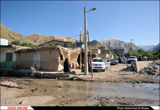 سفر تولیت آستان قدس رضوی به شهر کلات و مناطق سیل زده