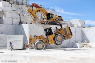استخراج سنگ مرمر در ایتالیا