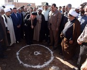 مراسم کلنگ زنی مجتمع فرهنگی درمانی امام رضا(ع) شهرستان نهبندان برگزار شد
