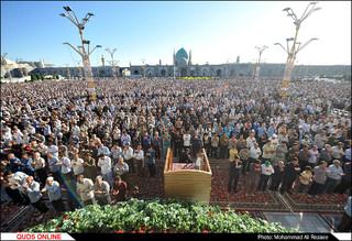نماز عید قربان در حرم مطهر رضوی