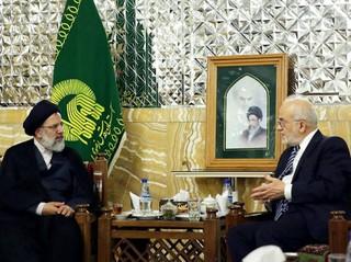 دیدار حجت الاسلام رئیسی با وزیر امور خارجه عراق