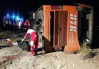 واژگونی اتوبوس دانشآموزان