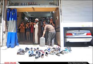نماز جماعت در مغازه مکانیکی