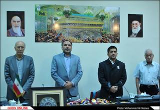 مراسم اهدای مدال های علیرضا دبیر به موزه آستان قدس رضوی
