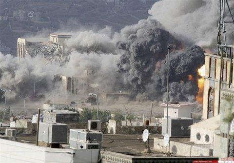 حمله خمپاره ای، حمله جنگنده ها