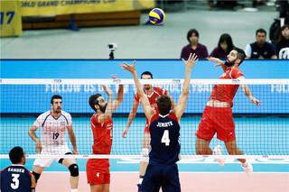 دیدار تیم ملی والیبال ایران و آمریکا