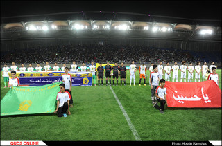 تیم فوتبال منتخب مشهد در دیدار افتتاحیه ورزشگاه امام رضا(ع) برابر منتخب کربلا به برتری رسید. /گزارش تصویری