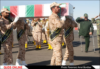 ورود چهار شهید دوران دفاع مقدس به مشهد