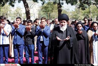 نخستین نماز جماعت مدارس خراسان رضوی برگزار شد