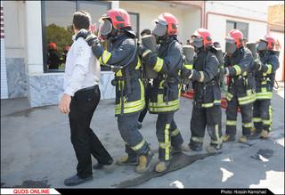 مانور امداد و نجات و سرچ در دود ویژه اصحاب رسانه برگزار شد / گزارش تصویری
