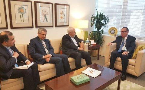 ظریف با معاون دبیرکل سازمان ملل