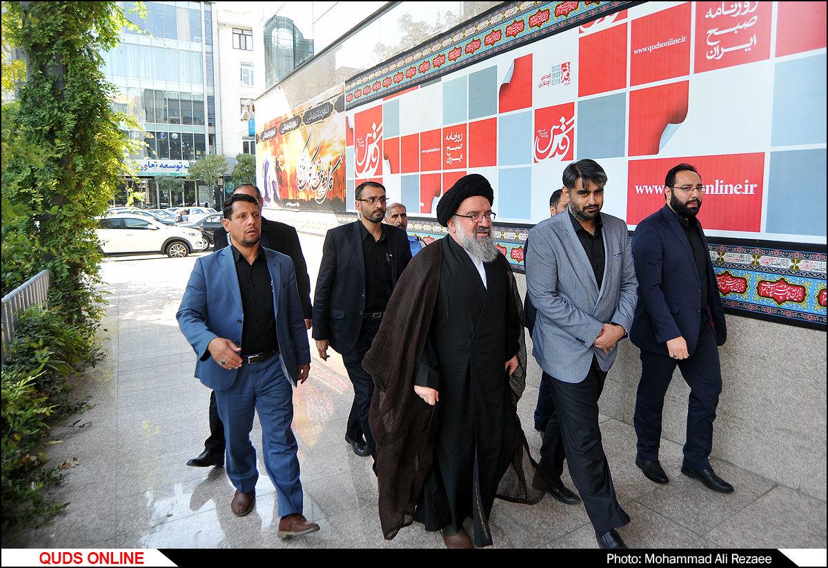 حضور آیت الله خاتمی در موسسه فرهنگی قدس/گزارش تصویری