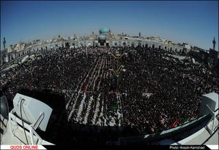 بزرگترین اجتماع هیئتهای مذهبی روز تاسوعا در حرم رضوی برگزار شد /گزارش تصویری