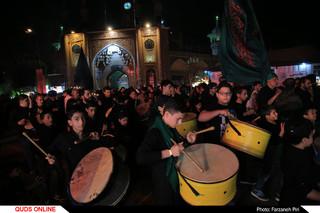 مشعل گردانی در شب عاشورای حسینی(ع) در قم