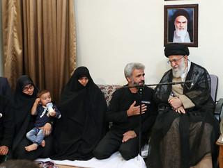 رهبر معظم انقلاب اسلامی در دیدار خانواده شهید محسن حججی