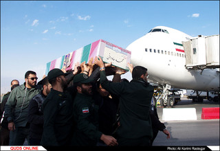استقبال از پیکر مطهر شهید مدافع حرم محمد جاودانی در مشهد/گزارش تصویری