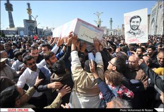 تشییع شهید مدافع حرم محمد جاودانی در حرم مطهر رضوی/گزارش تصویری