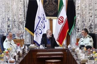 لاریجانی با فرمانده نیروی انتظامی