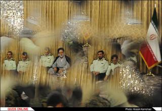 دیدار تولیت آستان قدس رضوی با تنی چند از کارکنان فرماندهی انتظامی استان خراسان رضوی/گزارش تصویری