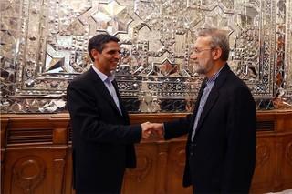 لاریجانی در نشست با مدیرعامل شرکت راه آهن جمهوری اسلامی: