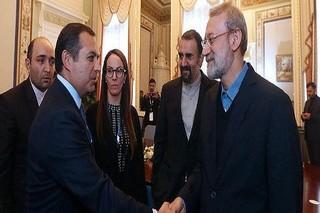 لاریجانی در دیدار رئیس پارلمانی مکزیک