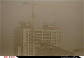 گرد و خاک شدید در مشهد/گزارش تصویری
