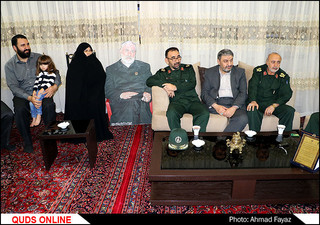 دیدار فرماندهان سپاه امام رضا(ع) با خانواده شهید سردار شوشتری- گزارش تصویری