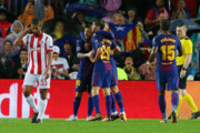پیروزی بارسلونا با ۱۰ بازیکن مقابل المپیاکوس!/ یوونتوس از سد اسپورتینگ گذشت