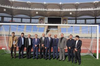 بازدید سفیر آلمان از ورزشگاه امام رضا (ع)