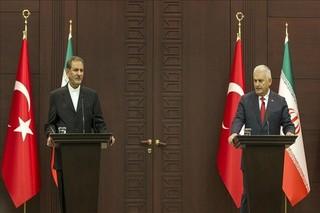 جهانگیری در نشست خبری مشترک با نخست وزیر ترکیه