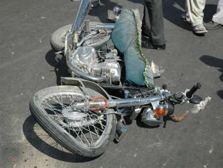 تصادف راکب موتورسیکلت