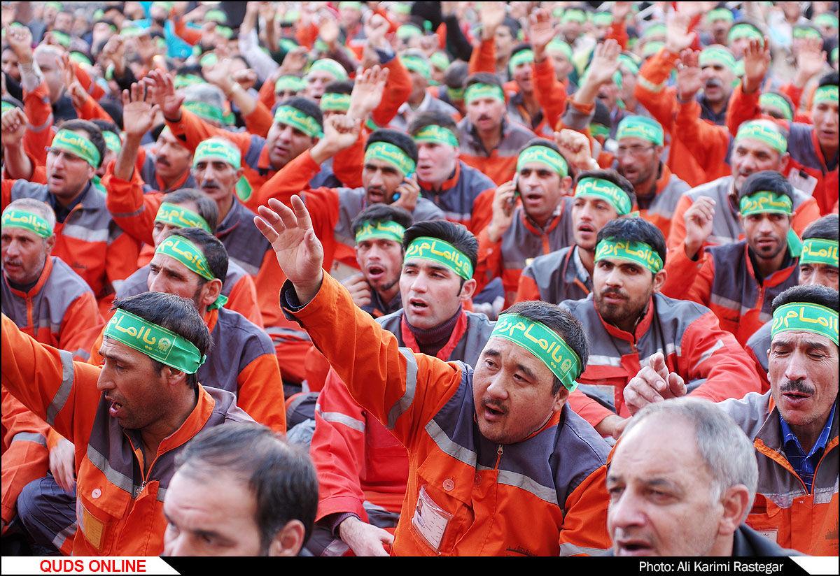 آیین بدرقه خدام و زوار اربعین حسینی به کربلا/گزارش تصویری