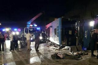 واژگونی اتوبوس در سوادکوه