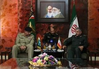 فرمانده سپاه به فرمانده ارتش پاکستان
