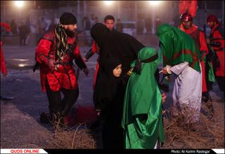آیین تعزیه خوانی و خیمه سوزان در مشهد
