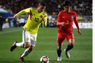 دیدار تیم های ملی فوتبال کره جنوبی و کلمبیا