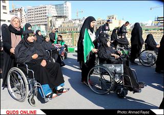 تشرف و سوگواری معلولان در رثای عالم آل محمد(ص)