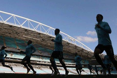 تمرین تیم ملی فوتبال استرالیا