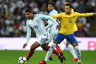 دیدار تیم های ملی فوتبال انگلیس و برزیل