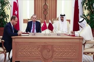 دیدار اردوغان با امیر قطر