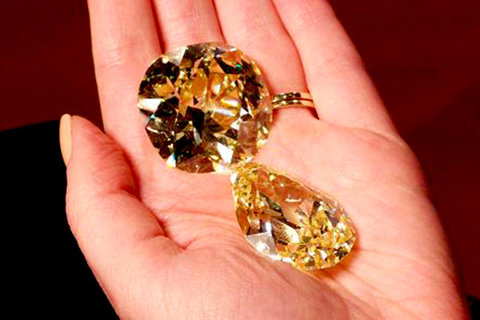 بزرگترین الماسهای زرد جهان